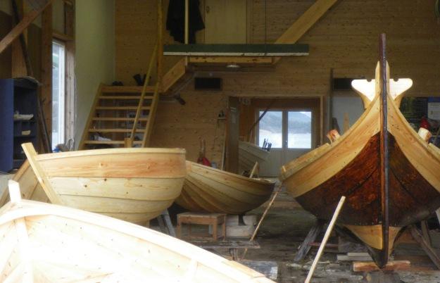 5 båter på verkstedet